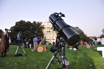 My telescope at the White House