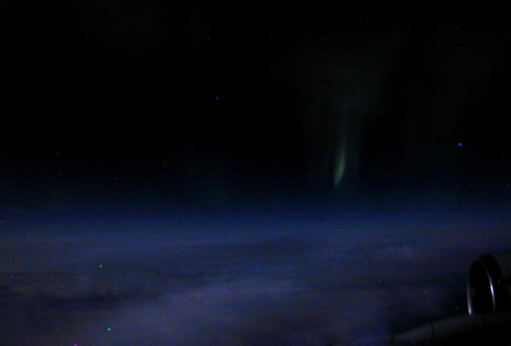 Aurora imaged from NASA DC-8